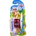Зубная щетка Aquarelle Kids детская цветная с машинкой