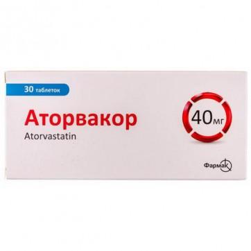 Аторвакор табл. п/плен. оболочкой 40 мг блистер №30 инструкция и цены