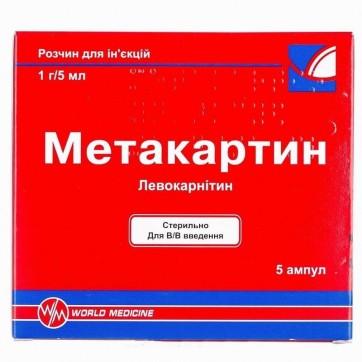 Метакартин р-н д/ін. 1 г/5мл амп. 5 мл №5 інструкція та ціни