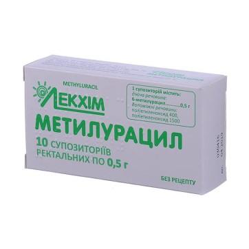Метилурацил супп. ректал. 0,5 г блистер, в пачке №10 инструкция и цены