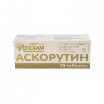 Аскорутин таблетки блистер №50, Технолог инструкция и цены