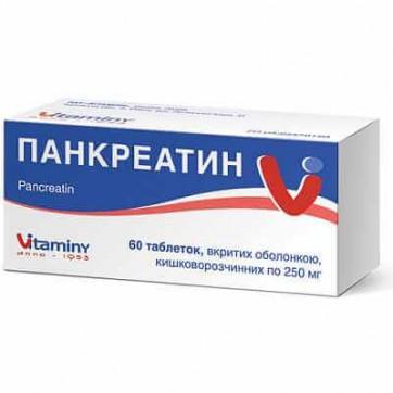 Панкреатин табл. п/о кишечно-раств. блистер №60 инструкция и цены