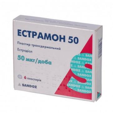 Эстрамон 50 пластырь трансдерм. 50 мкг/сутки пакетик №6 инструкция и цены