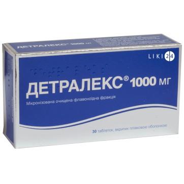 Детралекс 1000 мг табл. п/плен. оболочкой №30 инструкция и цены