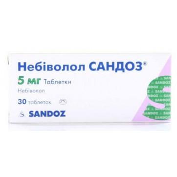 Небіволол сандоз табл. 5 мг блістер №30 інструкція та ціни