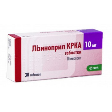 Лизиноприл крка табл. 10 мг блистер №30 инструкция и цены