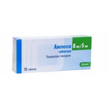 Амлесса табл. 8 мг + 5 мг блістер №30 інструкція та ціни