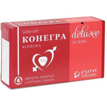 Конегра делюкс табл. жув. 100 мг блістер, у коробці №4 інструкція та ціни