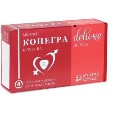 Конегра делюкс табл. жув. 50 мг блістер, у коробці №4 інструкція та ціни