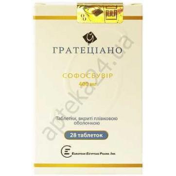Гратеціано табл. в/плівк. обол. 400 мг фл. №28 інструкція та ціни