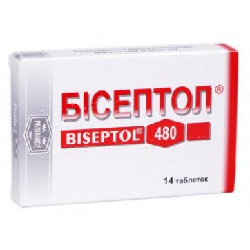 Бісептол табл. 400 мг + 80 мг блістер №14 інструкція та ціни