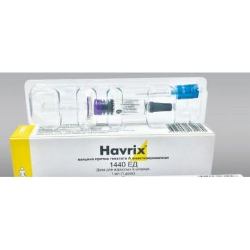 Хаврикс-1440 сусп. д/ін. шприц 1 мл, 1 доза для дорослих інструкція та ціни