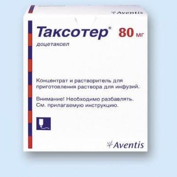 Таксотер конц. д/р-ну д/інф. 80 мг фл. 4 мл інструкція та ціни