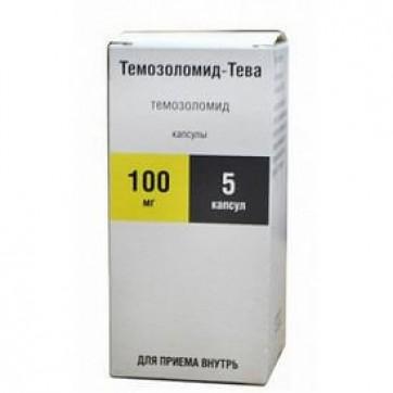 Темозоломід-тева капс. 100 мг фл. №5 інструкція та ціни