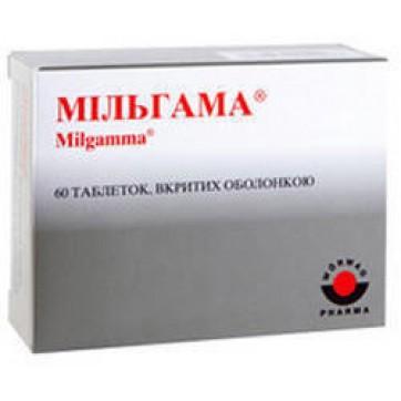 Мільгама табл. в/о №60 інструкція та ціни