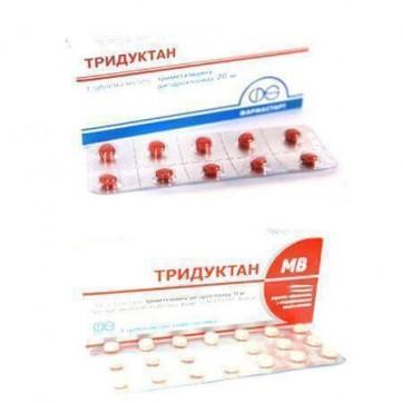 Тридуктан табл. в/плівк. обол. 20 мг №60 інструкція та ціни