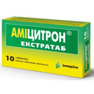 Аміцитрон екстратаб табл. в/плівк. обол. блістер №10 інструкція та ціни