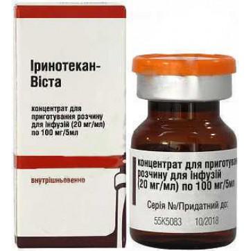 Іринотекан-віста конц. д/р-ну д/інф. 100 мг/5 мл фл. інструкція та ціни