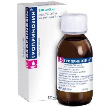 Гропринозин сироп 250 мг/5 мл фл. 120 мл инструкция и цены