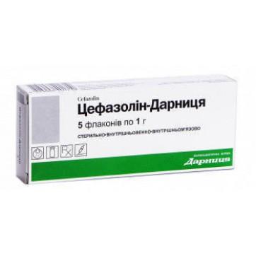 Цефазолин-дарница пор. д/р-ра д/ин. 1 г фл. №5 инструкция и цены
