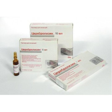 Церебролизин р-р д/ин. 215,2 мг/мл амп. 5 мл №5 инструкция и цены