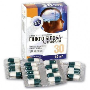 Гинкго билоба-астрафарм капс. 40 мг блистер №30 инструкция и цены