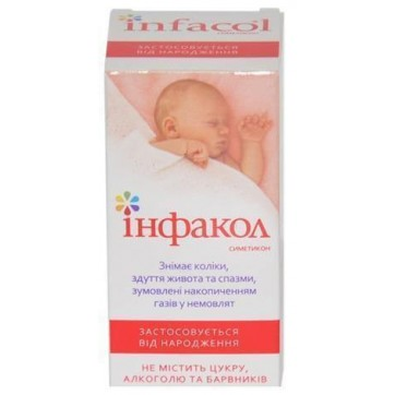 Інфакол сусп. орал. 40 мг/мл фл. 50 мл інструкція та ціни