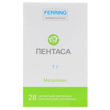 Пентаса супп. ректал. 1000 мг, + 28 напальчников №28 инструкция и цены