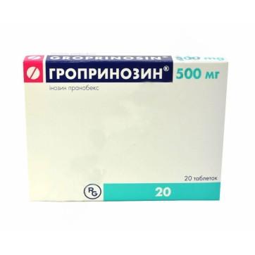 Гропринозин табл. 500 мг блистер, в коробке №20 инструкция и цены