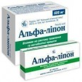 Альфа-липон табл. п/плен. оболочкой 600 мг блистер, в пачке №30