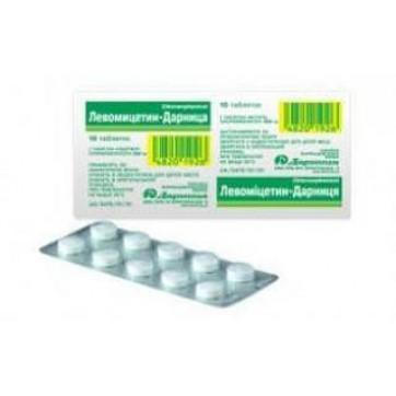 Левомицетин-дарница табл. 250 мг контурн. ячейк. уп. №10 инструкция и цены