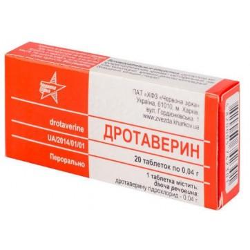 Дротаверин 0,04 г таблетки, №20 инструкция и цены