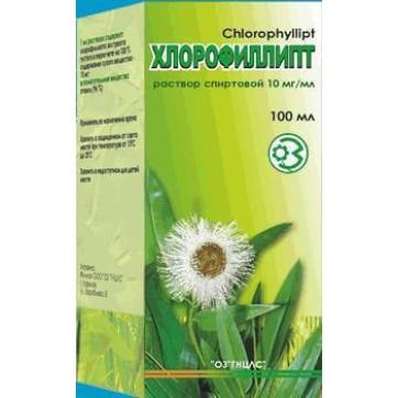 Хлорофіліпт р-н спирт. 10 мг/мл фл. 100 мл інструкція та ціни