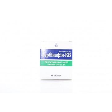Тербинафин-кв табл. 250 мг блистер №14 инструкция и цены