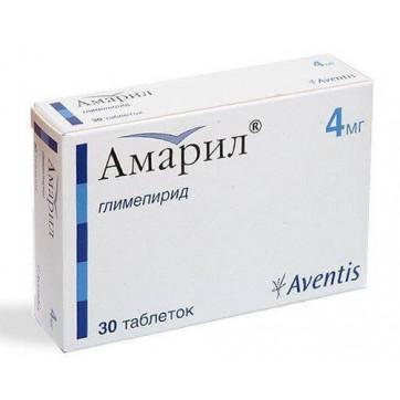 Амарил табл. 4 мг №30 інструкція та ціни