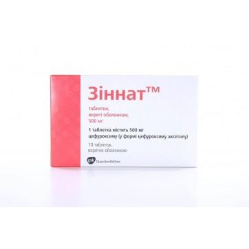 Зіннат табл. в/о 500 мг блістер №10 інструкція та ціни