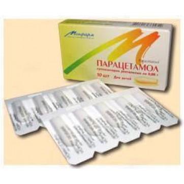 Парацетамол супп. ректал. 0,17 г стрип №10 инструкция и цены