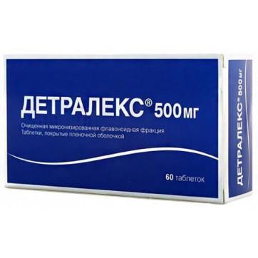 Детралекс табл. п/плен. оболочкой 450 мг + 50 мг №60 инструкция и цены
