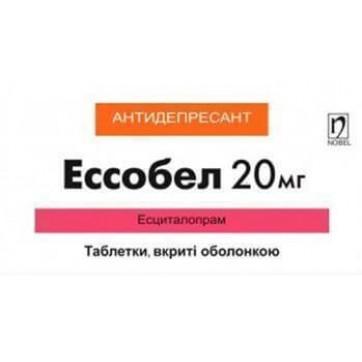 Эссобел табл. п/о 20 мг блистер №28 инструкция и цены