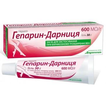Гепарин-дарница гель 600 ЕД/г туба 30 г инструкция и цены