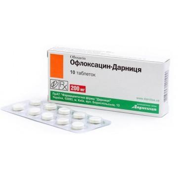 Офлоксацин-дарница табл. 200 мг контурн. ячейк. уп. №10 инструкция и цены