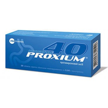 Проксиум табл. п/о кишечно-раств. 40 мг блистер №32 инструкция и цены