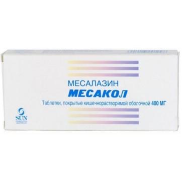 Месакол табл. п/о кишечно-раств. 400 мг стрип №50 инструкция и цены