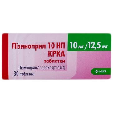 Лизиноприл 10 нл крка табл. 10 мг + 12,5 мг №30 инструкция и цены