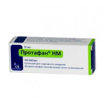 Протафан нм сусп. д/ин. 100 МЕ/мл фл. 10 мл инструкция и цены