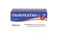 Панкреатин табл. п/о кишечно-раств. 250 мг блистер №60
