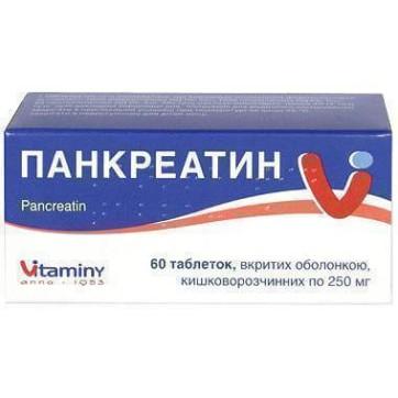 Панкреатин табл. п/о кишечно-раств. 250 мг блистер №60 инструкция и цены