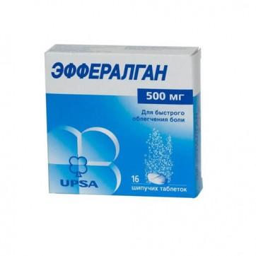 Эффералган табл. шип. 500 мг №16 инструкция и цены