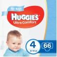 Подгузники Huggies Ultra Comfort 4 для мальчиков 8-14 кг 66 шт