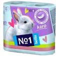 Бумага туалетная Bella Karo бирюзовая №4